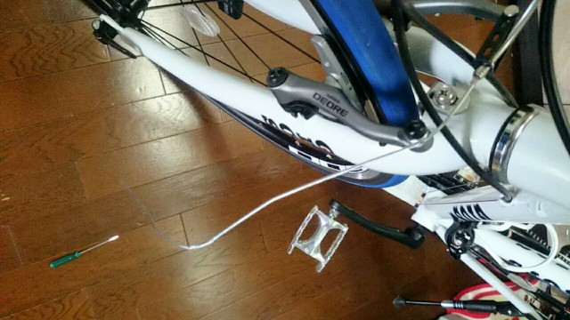 自転車 ブレーキケーブル 切断