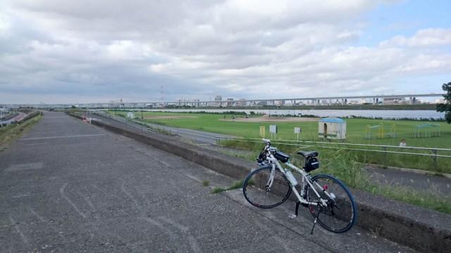 荒川サイクリングロードの京葉道路付近
