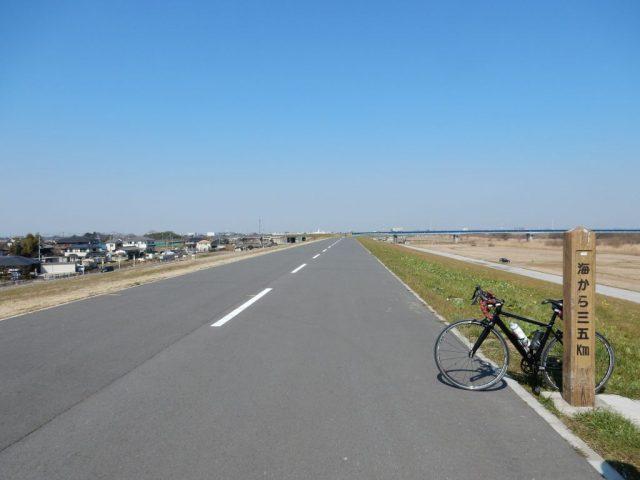 江戸川サイクリングロード35kmポスト