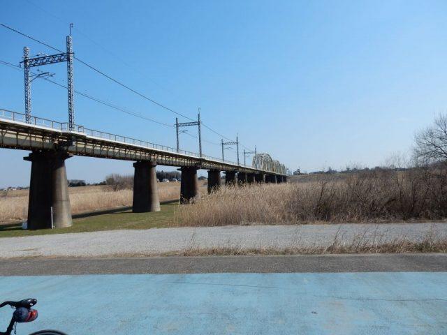 江戸川サイクリングロード 鉄橋