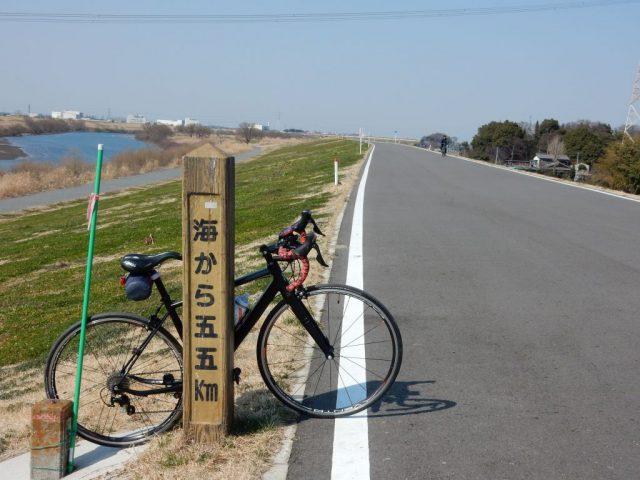 江戸川サイクリングロード 55kmポスト