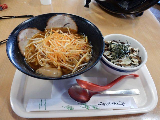 ネギラーメン+チャーシュー丼