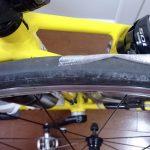 タイヤの周長を測ってみました(700x23c)