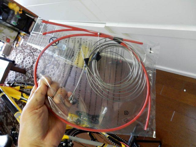 CAAD8 シフト、ブレーキケーブル交換