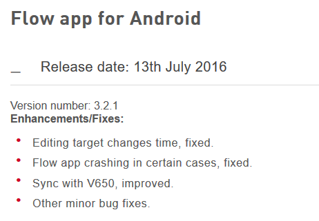 Polar Flow app android 3.2.1