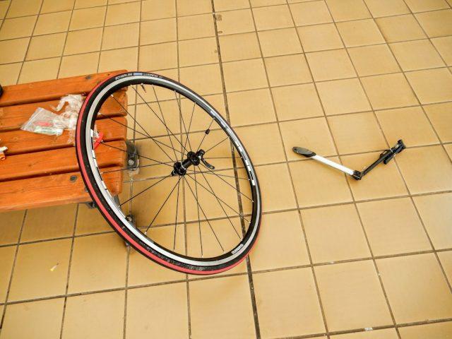 ロードバイク バンク修理
