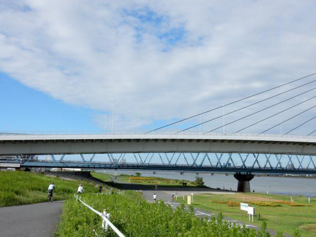 荒川サイクリングロード 右岸 新砂大橋