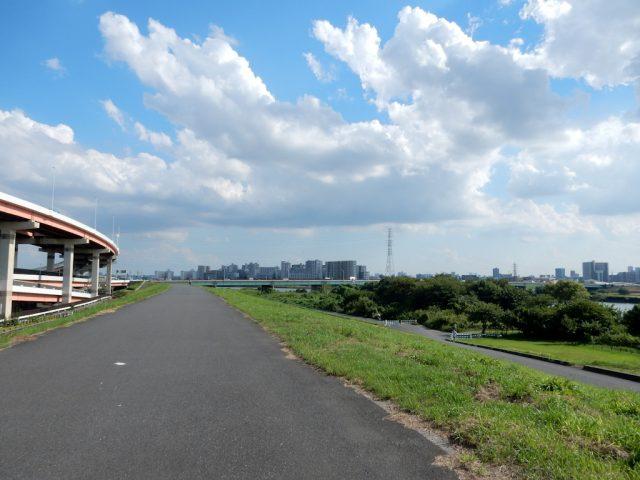 荒川サイクリングロード 鹿浜橋