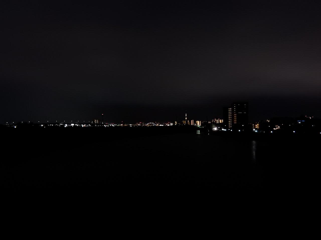 岩淵水門 夜景
