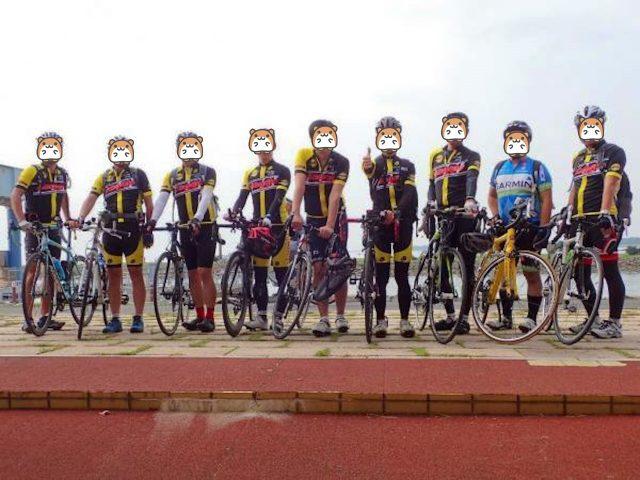 Viaggio cycling club集合写真 チームジャージ完成 記念