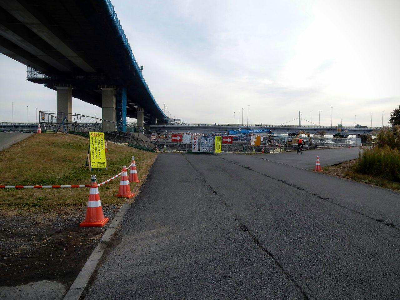 荒川サイクリングロード 迂回路 左岸 京葉道路