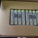 単4のニッケル水素乾電池を買いました。