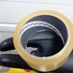 保護テープを貼り直しました。