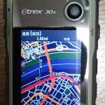Garmin eTrex30xの地図を英語版への入れ替えとファームアップをしました