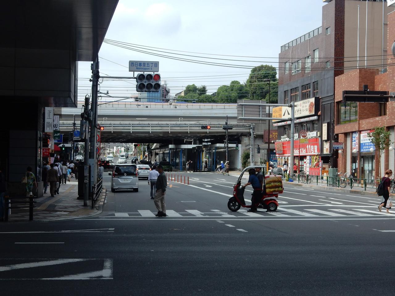 山手線一周 ライド  尾久橋通り 西日暮里駅