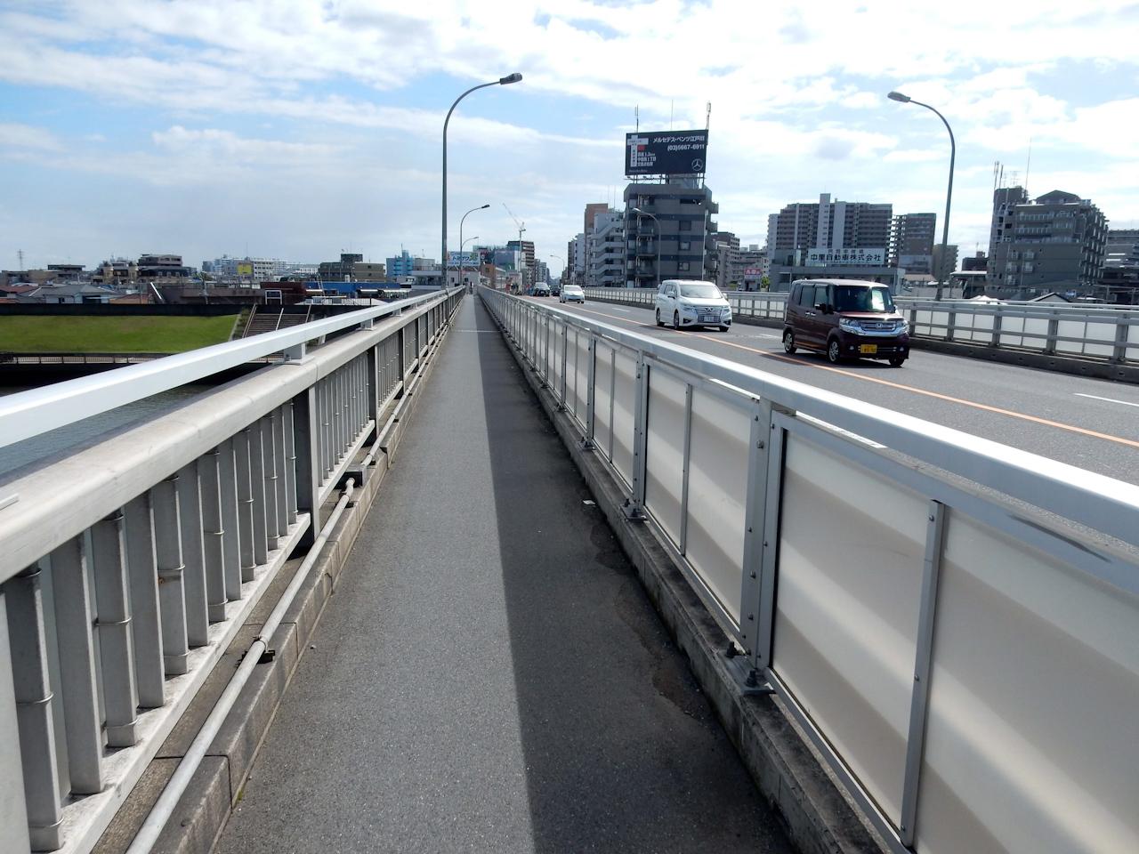 荒川サイクリングロード 左岸 葛西橋