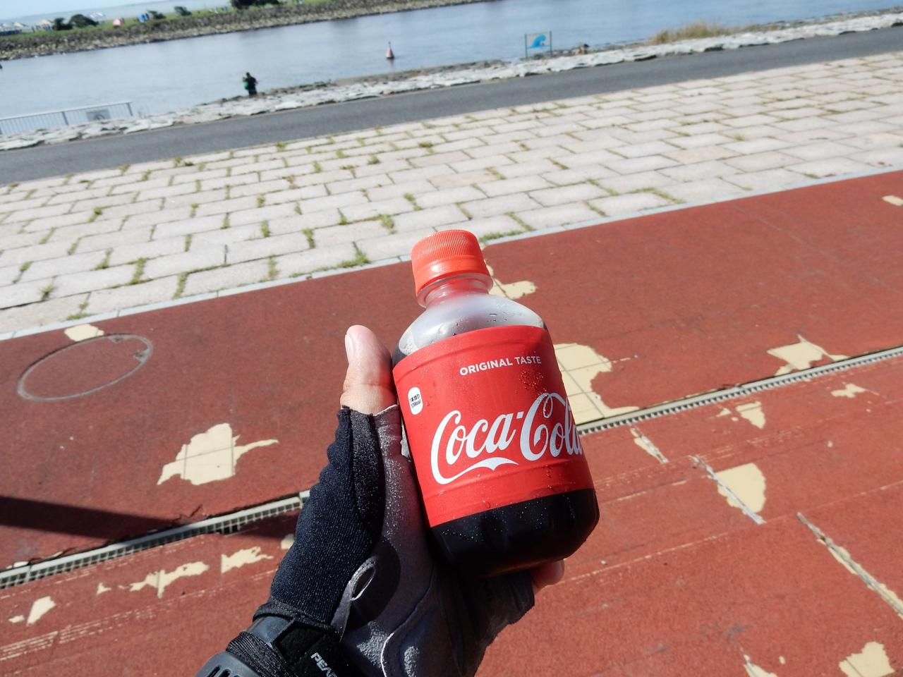 荒川サイクリングロード 左岸 葛西臨海公園 コカ・コーラ