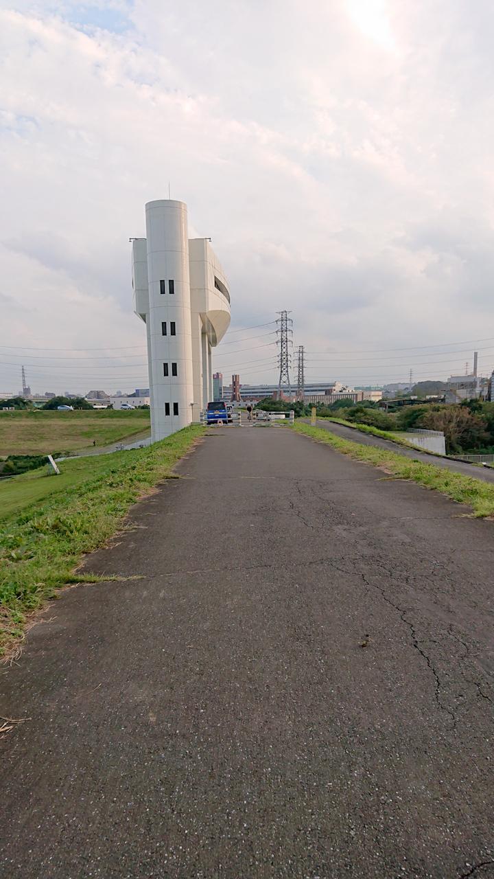 荒川サイクリングロード 右岸 朝霞水門