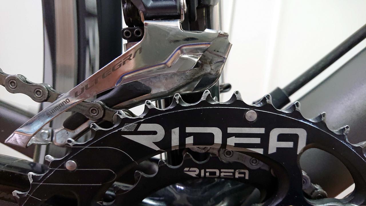 RIDEA Power RingのW2T(50/34)  楕円 チェーンリング 交換 FC-6800 ULTEGRA アルテグラ