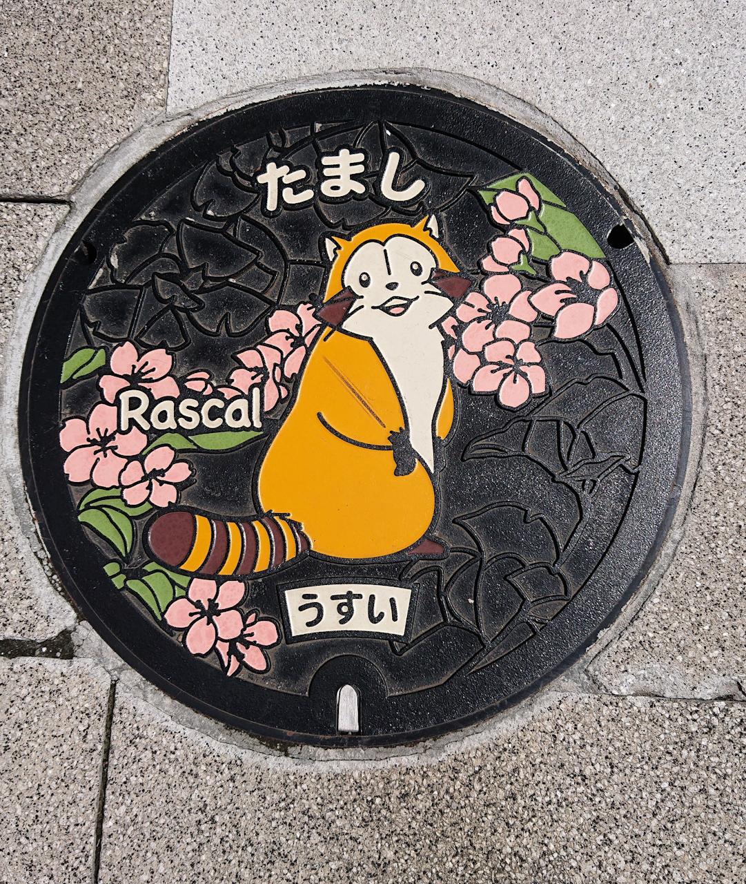 東京都 多摩市 ラスカル 下水 マンホール マンホールカード