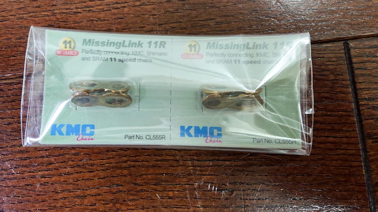 KMC(ケイエムシー) ミッシングリンク 11速用 CL555R ゴールド2個(再利用可)