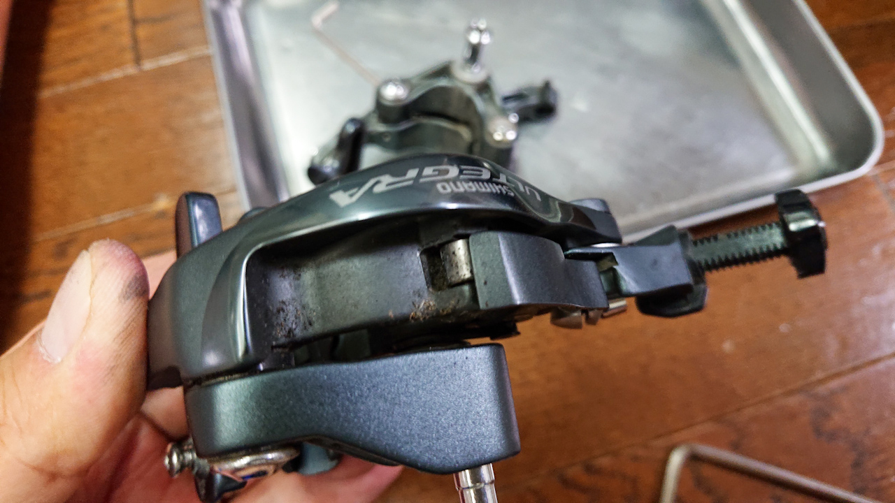 ブレーキ(BR-5800)を分解清掃しました