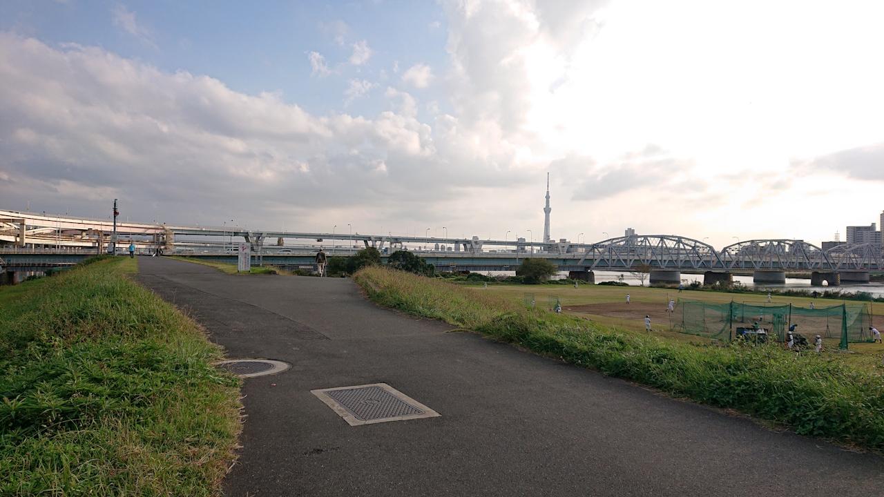 荒川サイクリングロード 左岸 綾瀬水門