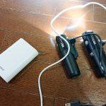 CATEYEのライト(VOLT)が使いながら充電できるか確認してみました。