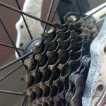 クロスバイクの掃除を軽くしました