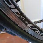 ホイールのクリア塗装剥がれを補修