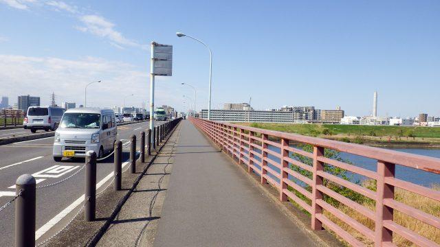荒川サイクリングロード サイクリング 鹿浜橋