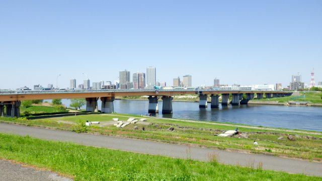 荒川サイクリングロード サイクリング 新荒川大橋