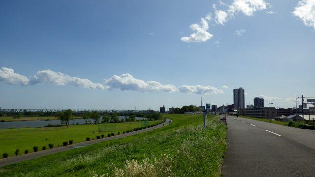 帰れま61000とサイコン振り切りライド 江戸川サイクリングロード