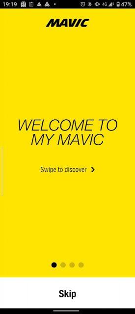 スマホのMyMAVICアプリをインストーして製品登録