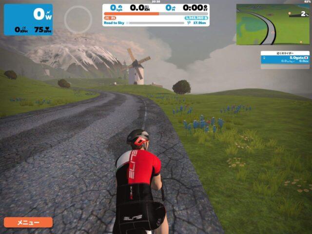 【10回目】Alpe du Zwift(Road to Sky)を上ってみた